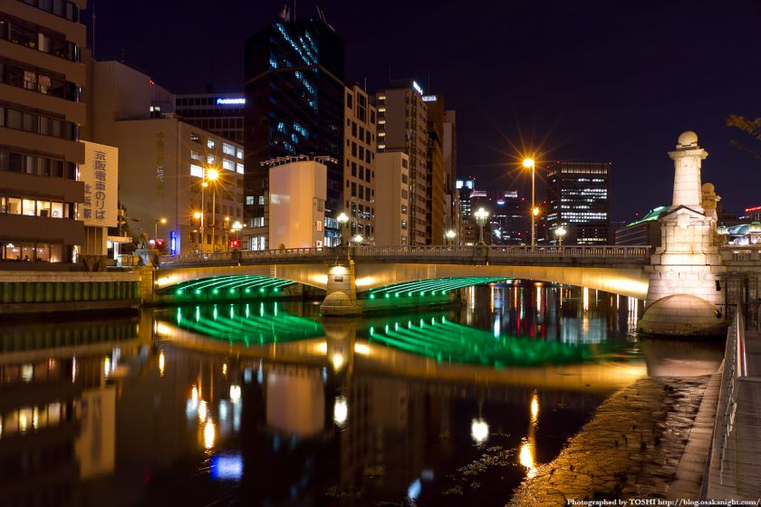 難波橋(ライオン橋) ライトアップ 01