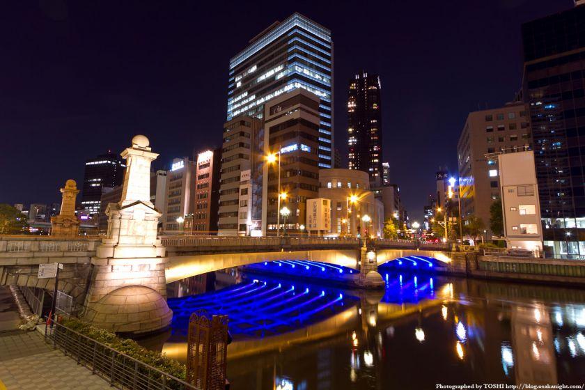 難波橋(ライオン橋) ライトアップ 02