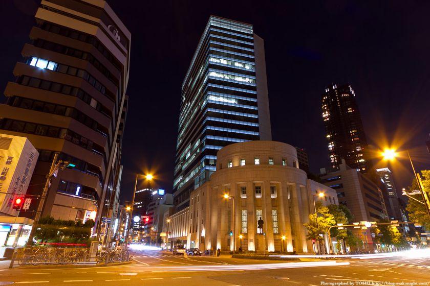 大阪証券取引所ビル 夜景