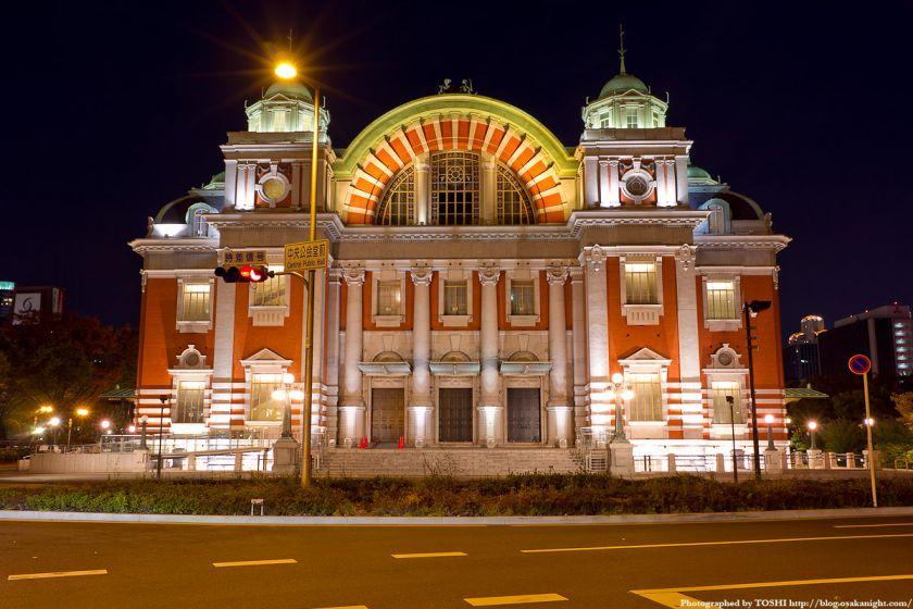 大阪市中央公会堂の夜景 01