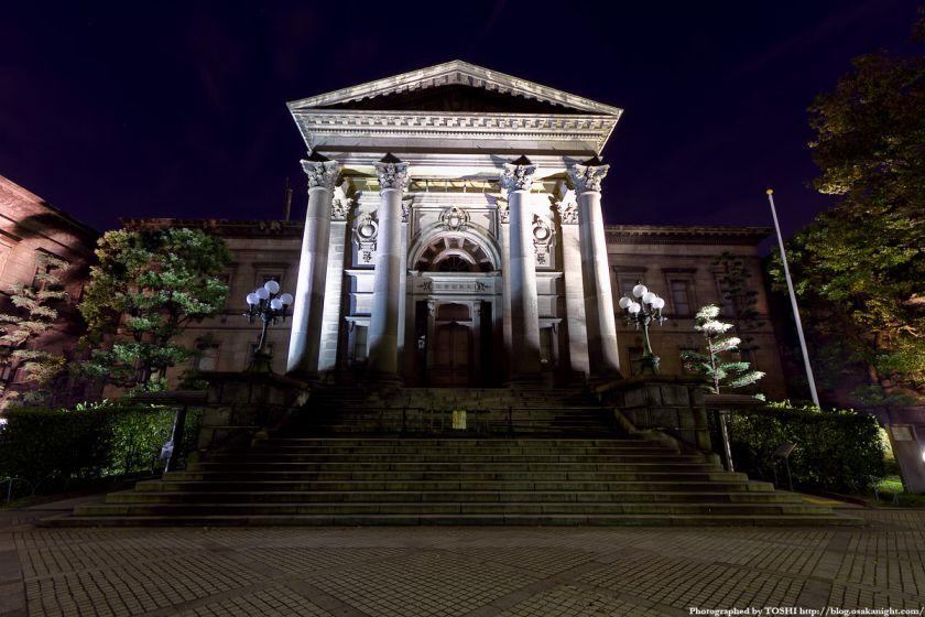 中之島図書館の夜景 01