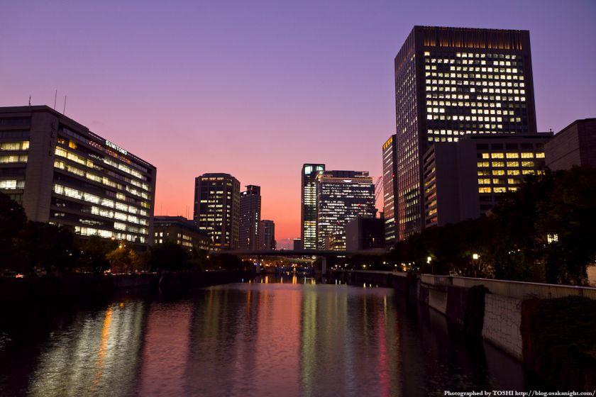 淀屋橋から西方向の夕景 01