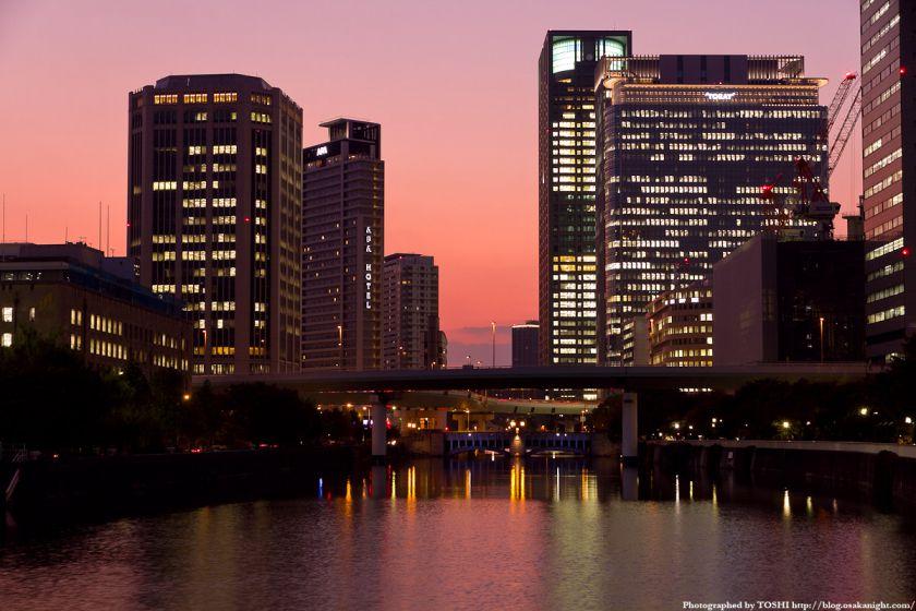 淀屋橋から西方向の夕景 02