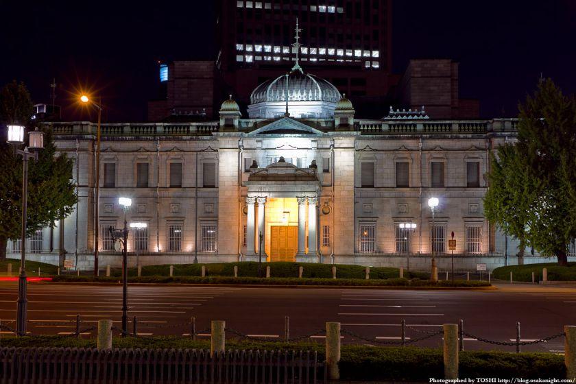日本銀行大阪支店 ライトアップ夜景 01