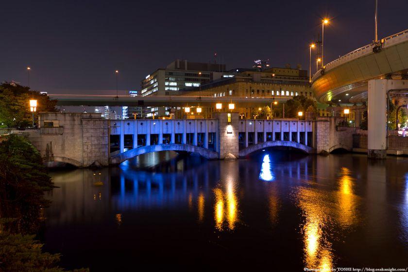 錦橋のライトアップ夜景