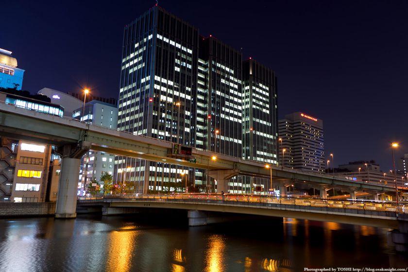 渡辺橋の夜景(アクア堂島)