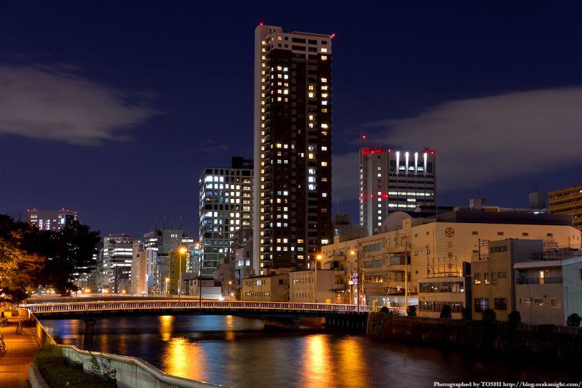 土佐堀橋の夜景 01