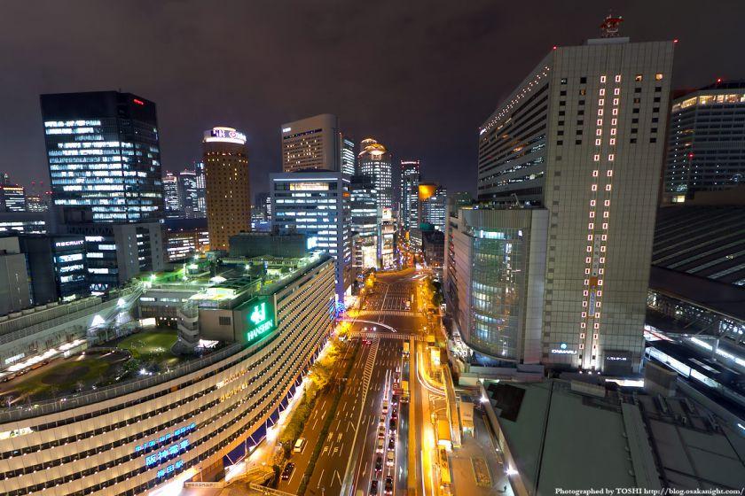 梅田阪急ビル スカイロビーから西梅田方面の夜景