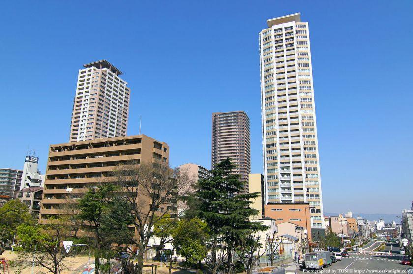 上本町のタワーマンション群