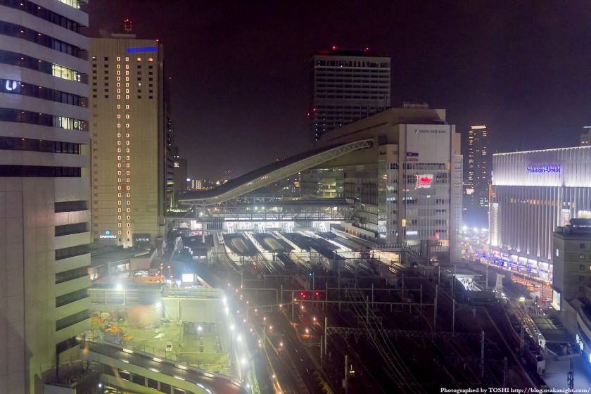 HEP FIVE 大観覧車より大阪ステーションシティの夜景 01