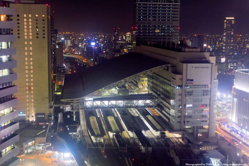 HEP FIVE 大観覧車より大阪ステーションシティの夜景 03