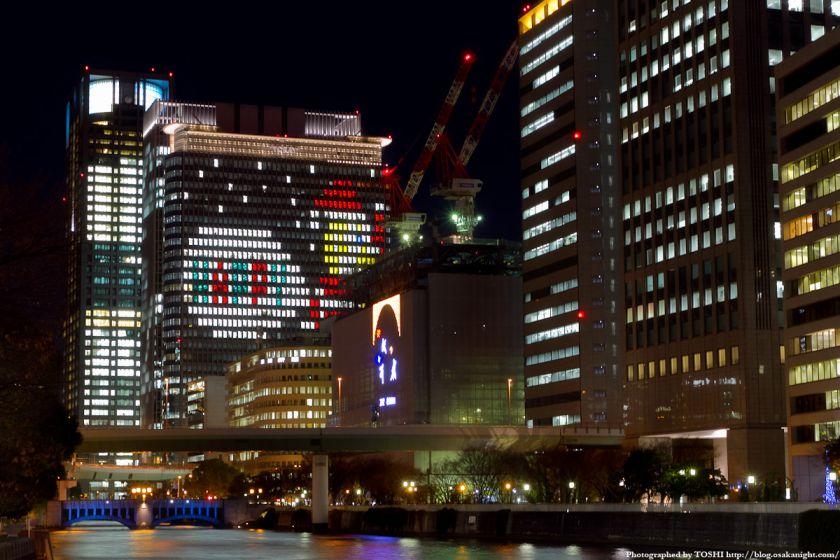中之島三井ビル クリスマスウインドウアート2010 02