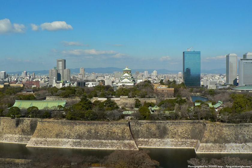 KKRホテル大阪から見た大阪城公園