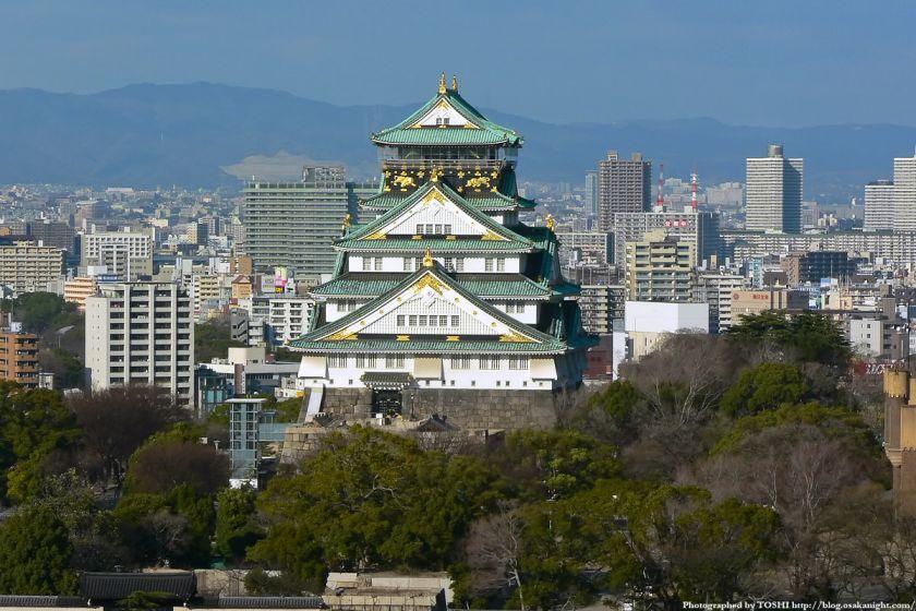 KKRホテル大阪から見た大阪城天守閣