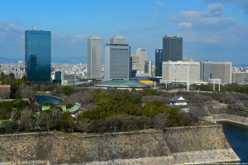 KKRホテル大阪から見たOBP 大阪ビジネスパーク