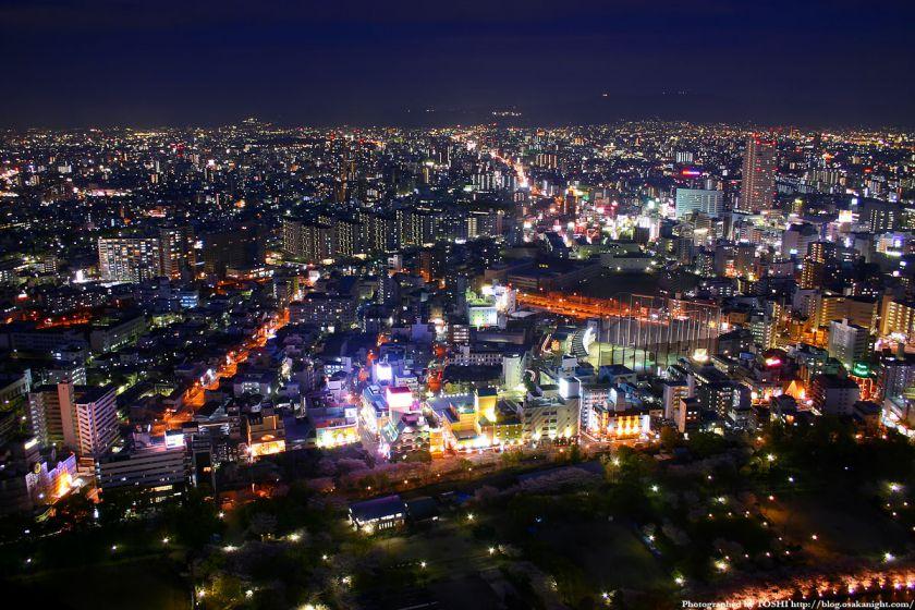 京橋駅周辺の夜景 from OAPタワー 02