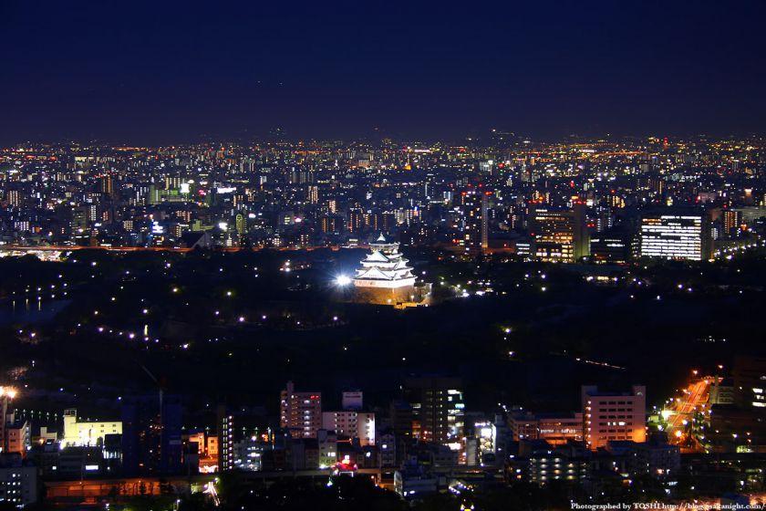 大阪城公園の夜景 from OAPタワー