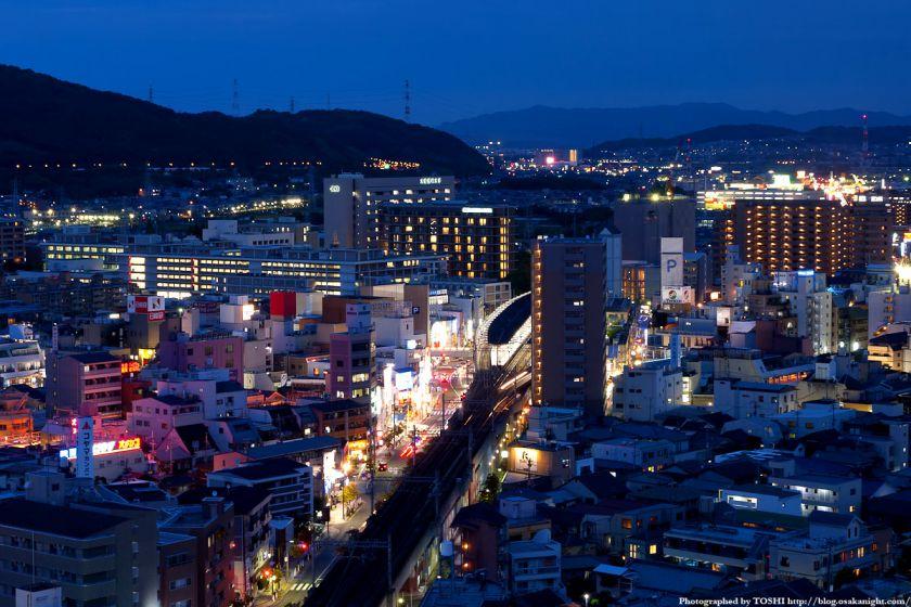 阪急高槻市駅周辺の夜景