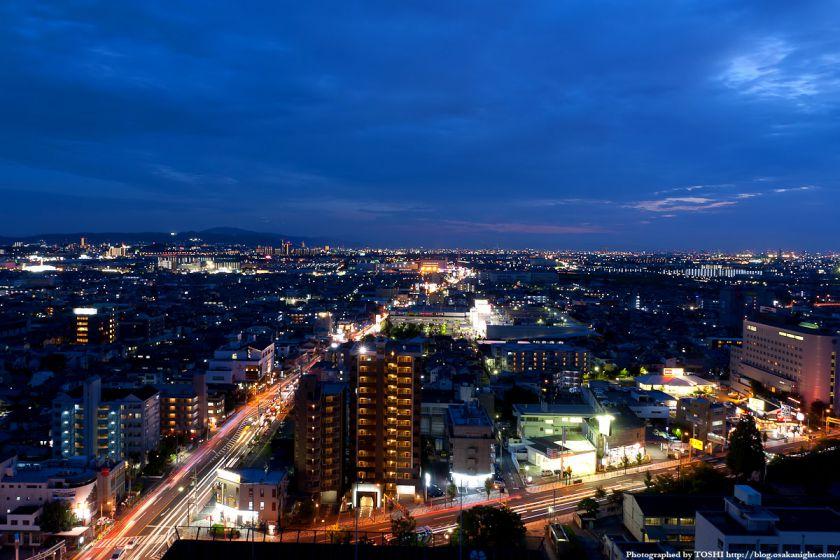 枚方市〜寝屋川市方面の夜景