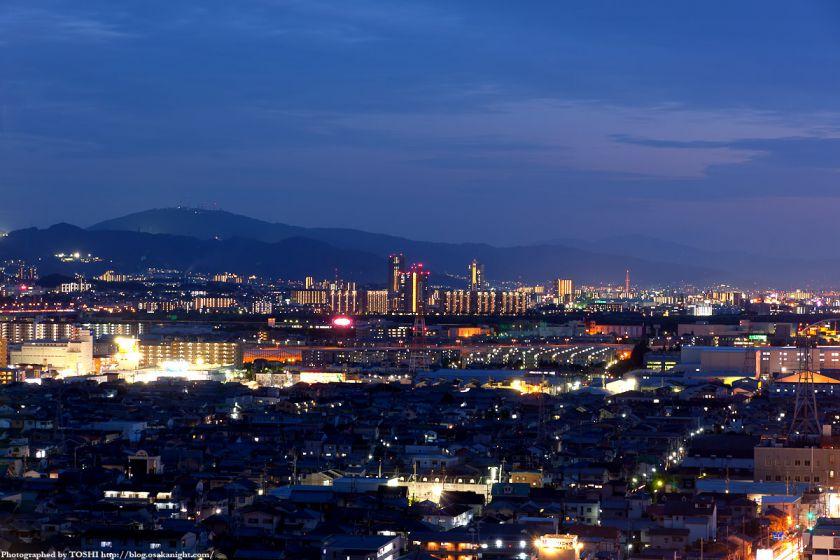 香里園駅周辺の夜景