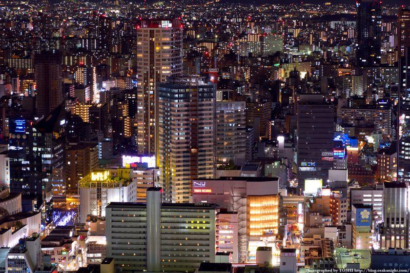 茶屋町の夜景 from 梅田スカイビル