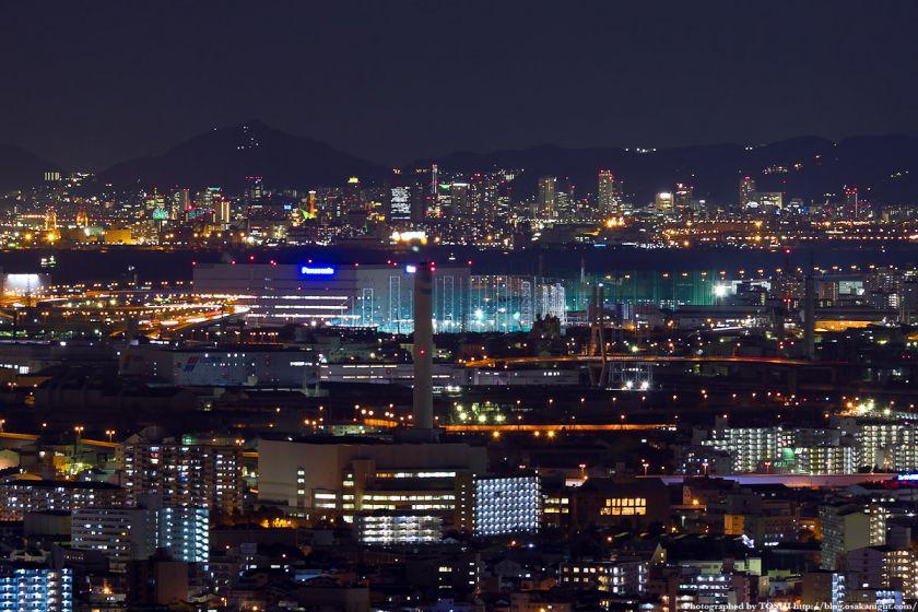 神戸の夜景 from 梅田スカイビル