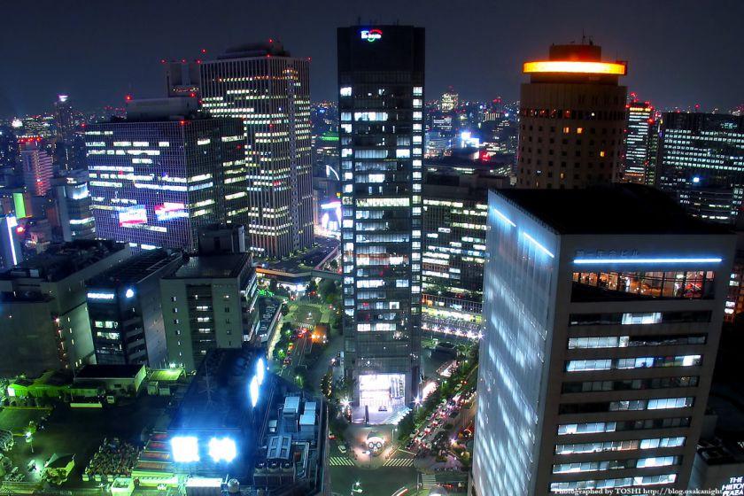 アクティ大阪展望ロビーからの夜景 2003年 01