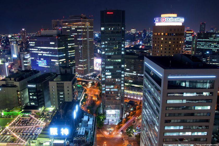 アクティ大阪展望ロビーからの夜景 2008年 01