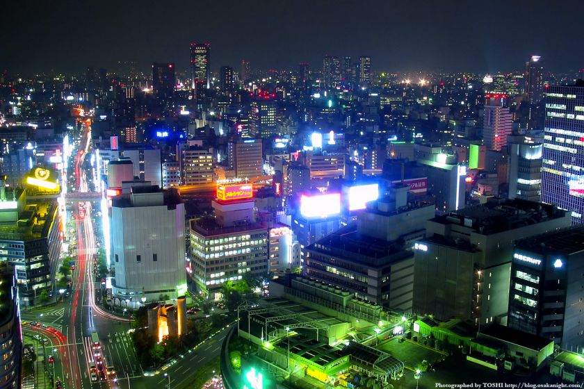 アクティ大阪展望ロビーからの夜景 2003年 02