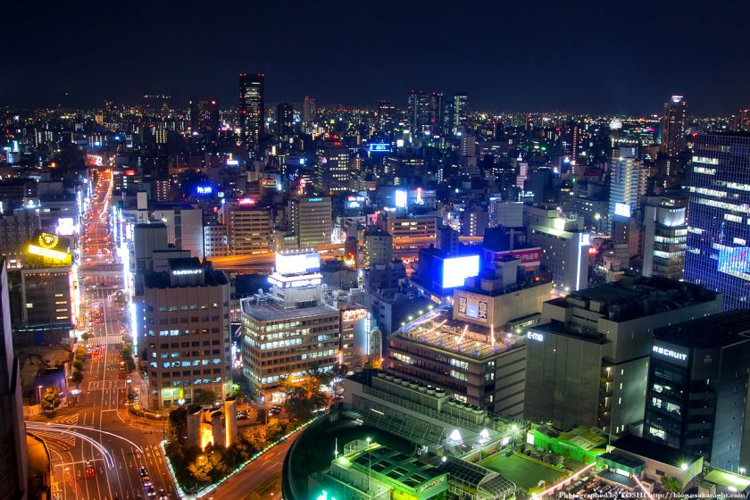 アクティ大阪展望ロビーからの夜景 2008年 02