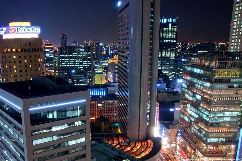 アクティ大阪展望ロビーからの夜景 2008年 03