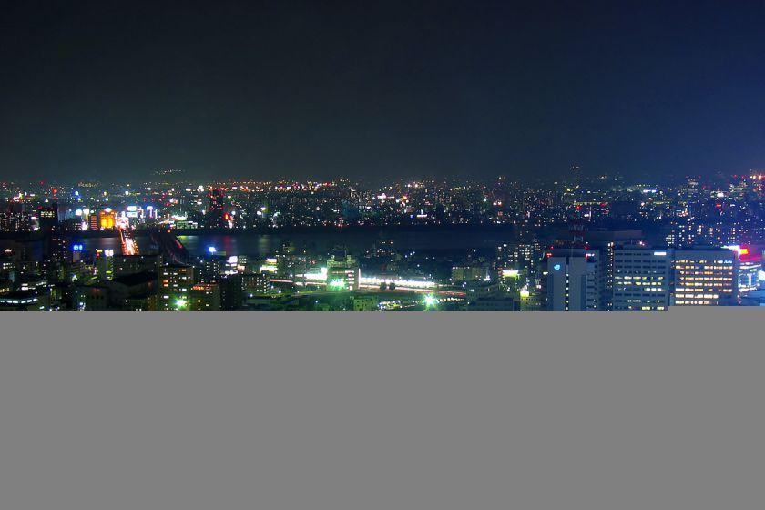 アクティ大阪展望ロビーからの夜景 2003年 04