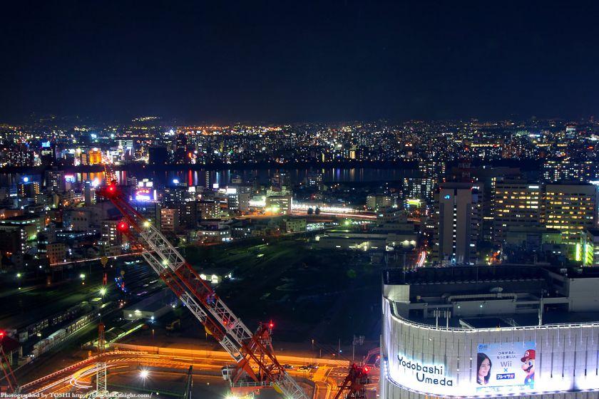 アクティ大阪展望ロビーからの夜景 2008年 04
