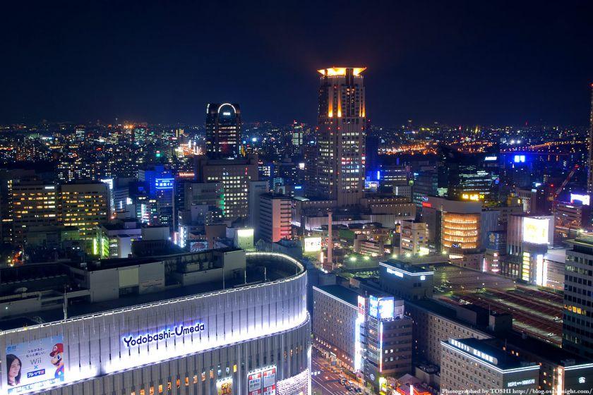 アクティ大阪展望ロビーからの夜景 2008年 07