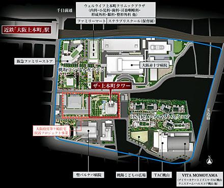 上本町再開発の全体図