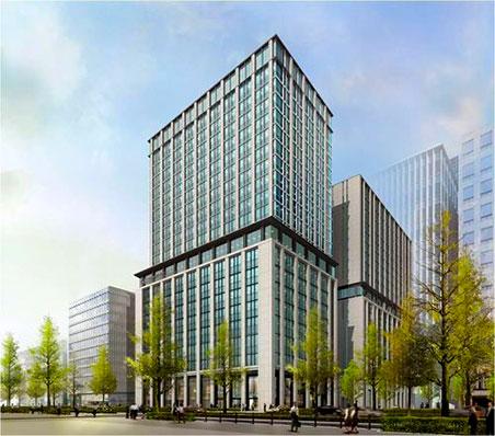 三菱東京UFJ銀行大阪ビル本館建替計画 完成予想図
