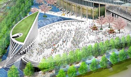大阪駅北口広場 完成予想図