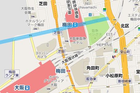 梅田東西道路計画MAP