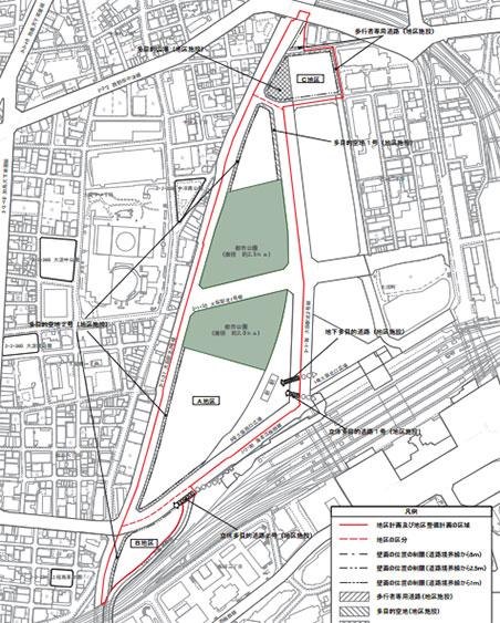 うめきた2期 地区計画 説明図