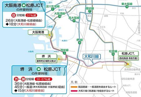 阪神高速6号大和川線 整備効果