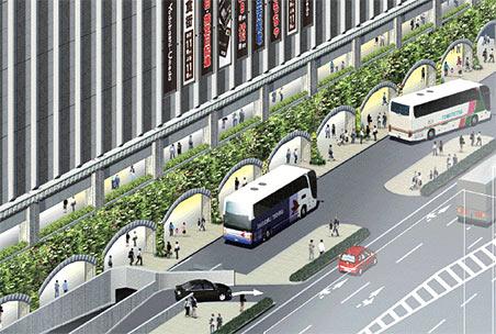 ヨドバシ梅田 一体開発 交通広場