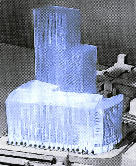 ヨドバシ梅田新ビル 2000年当時の完成予想パース