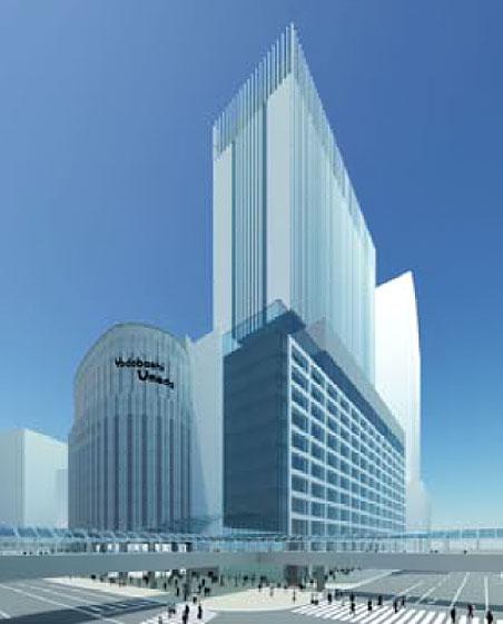 ヨドバシ梅田 2期 商業施設 完成予想パース