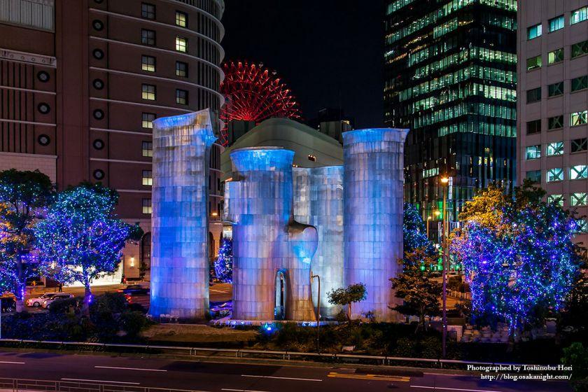 御堂筋イルミネーション2018 梅田吸気塔