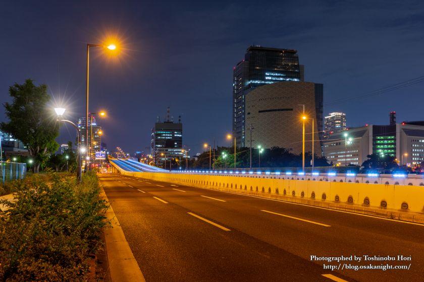 G20大阪サミット2019 中央大通りと阪神高速13号東大阪線 01