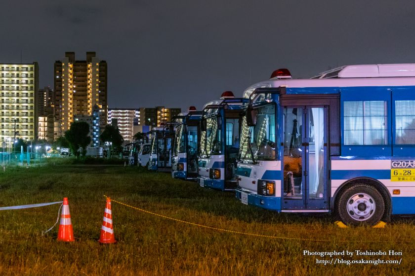 G20大阪サミット2019 警察車両