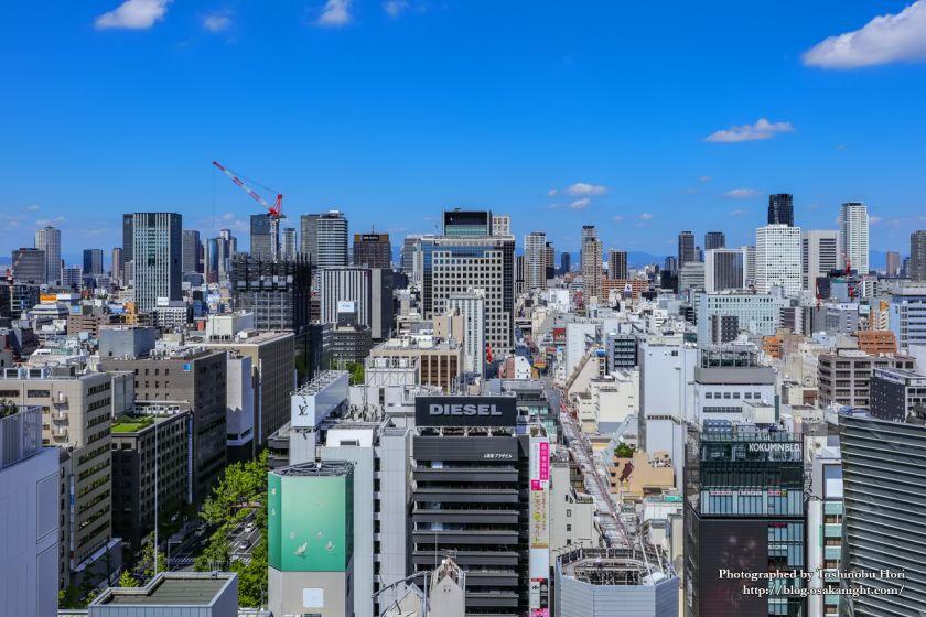 一時休館する大丸心斎橋店北館からの眺め 2019年9月