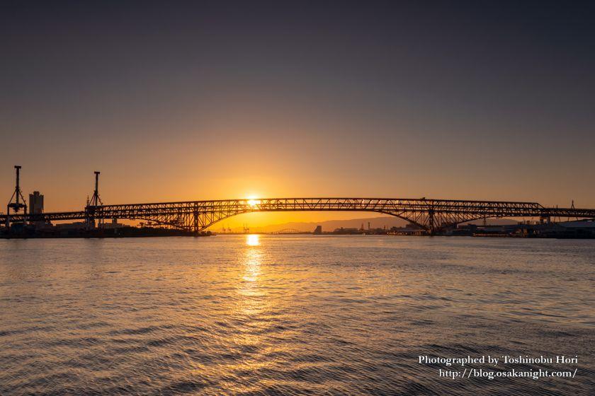 鶴浜緑地より港大橋の夕景 2020年5月 01