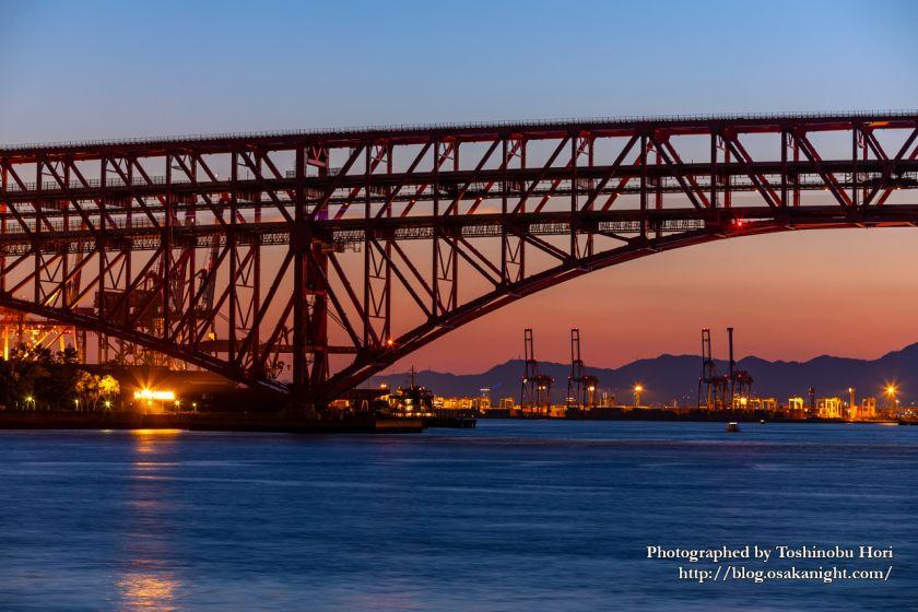 鶴浜緑地より港大橋のトワイライト夜景 2020年5月 02
