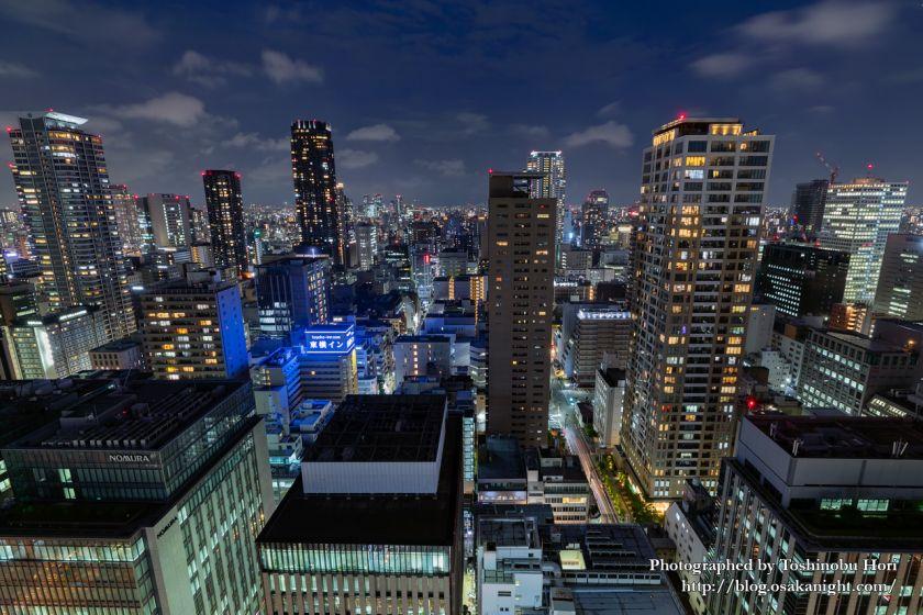 ザ・ロイヤルパークホテル・アイコニック大阪御堂筋からの夜景 東方向